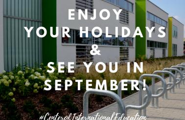 Enjoy your summer holidays!