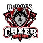 logo Wolves Athletic Program cheerleaders WIS